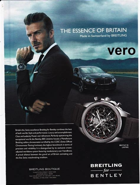 used bentley ad breitling 2014 mag ad print bentley b05 unitime