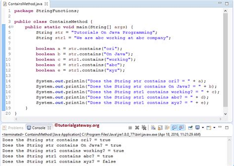 Java Pattern Not Contains String | java string contains method
