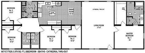 awesome 5 bedroom mobile home floor plans new home plans