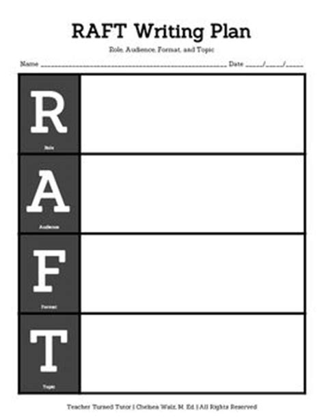 raft writing template raft writing plan graphics writing and organizers