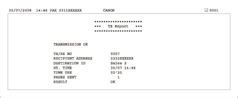 fax receipt confirmation template setting tx reports to print automatically