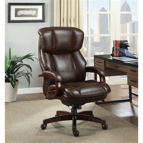 la z boy desk chair office depot la z boy fairmont biscuit brown bonded leather executive