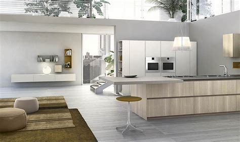 modular italian kitchen  streamlined design  adaptable style