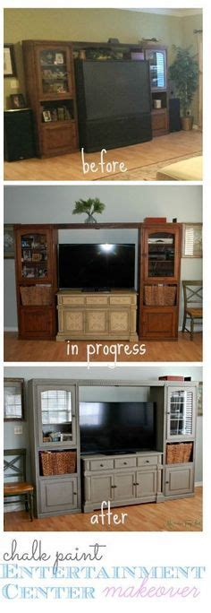 entertainment center makeover on pinterest painting oak 1000 images about for the home on pinterest diy and