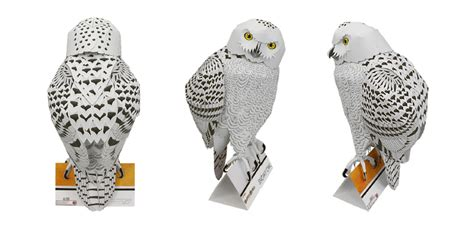 canon paper craft snowy owl paper