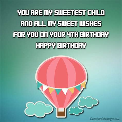4 Year Birthday Card Message 4th Birthday Wishes And Greetings Occasions Messages
