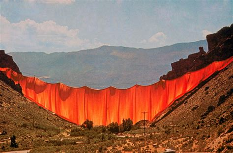 valley curtain christo process art and earthworks at colorado college studyblue