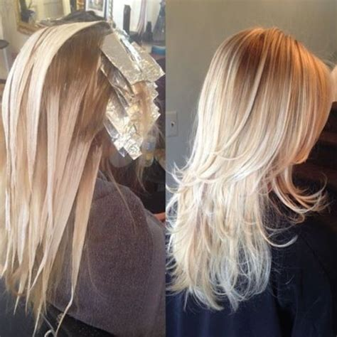 where to place foils for ombre 1302 best a b hair foil color images on pinterest hair
