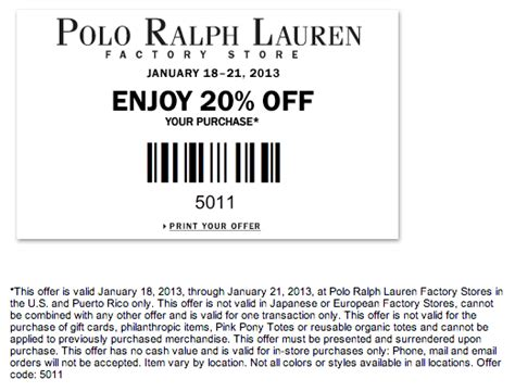printable coupons polo outlet marein polo ralph lauren factory coupon code