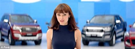 toyota commercial actress australia ford car girl ngaire dawn fair stuns in new ad daily