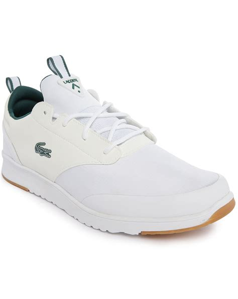 lacoste light sneakers lacoste light 2 0 white sneakers in white for lyst