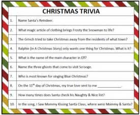 printable christmas trivia game moms munchkins