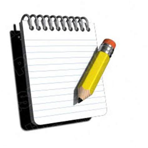 download high quality royalty free notepad w pencil