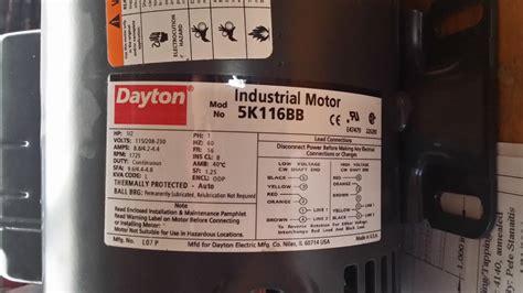 dayton motor wiring