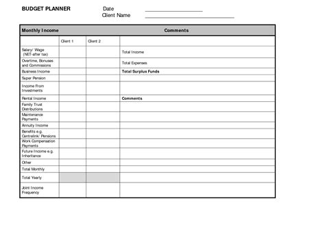 budget maker template budget planner template free free business template