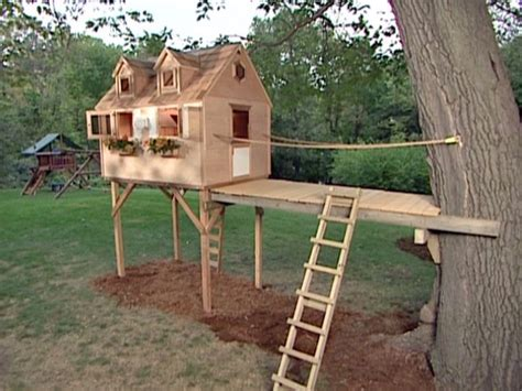swing set tree house plans treehouse home kits versus building them from scratch