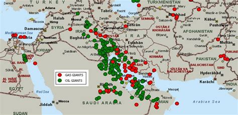 middle eastern oil l what deternines whether a given area has oil or ng
