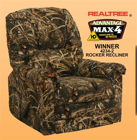 Camouflage Recliner Cover by Winner Max 4 Realtree Camouflage Rocker Recliner By