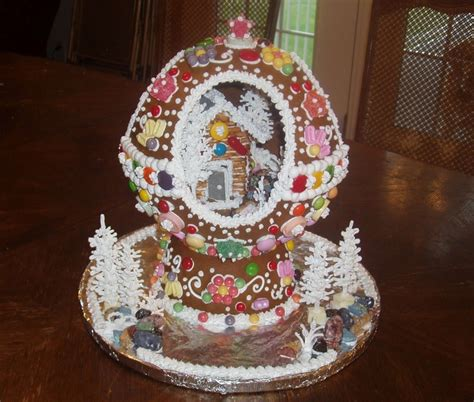 gingerbread snow globe snowglobes pinterest