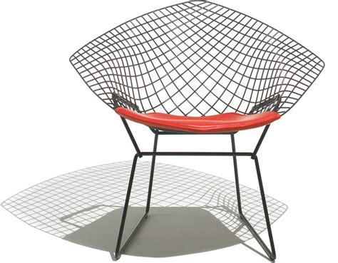 Bertoia Small Diamond Chair With Seat Cushion   hivemodern.com