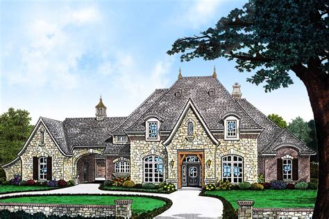 elegant  bedroom french country home plan fm