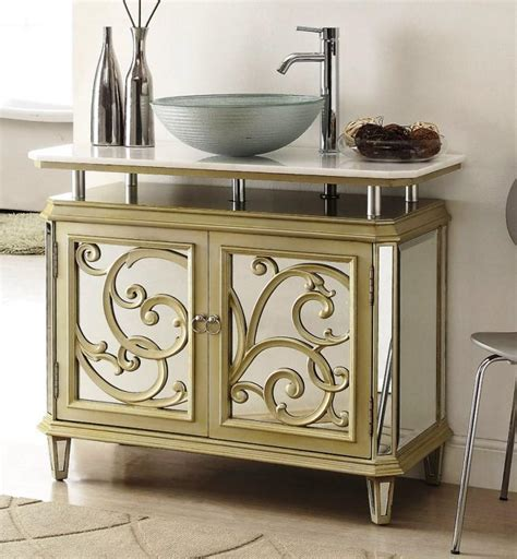 Mirrored Bathroom Vanity In 10 Enchanting Design Ideas Mirrored Bathroom Vanity Cabinet