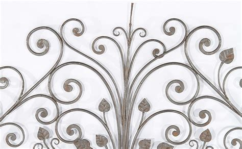 iron scroll headboard wrought iron scroll and leaf decorated headboard