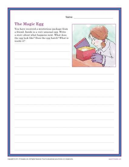 4th Grade Essay Topics by The Magic Egg Creative Writing Prompt For 3rd And 4th Grade