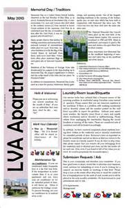 Community Newsletter Template by Apartment Complex Sle Newsletter Sle Newsletters