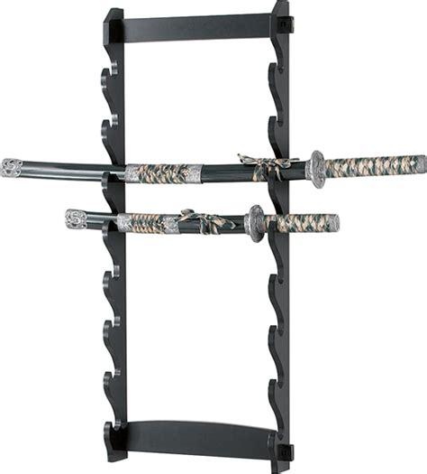 Sword Rack 8 tier wall mount sword display rack