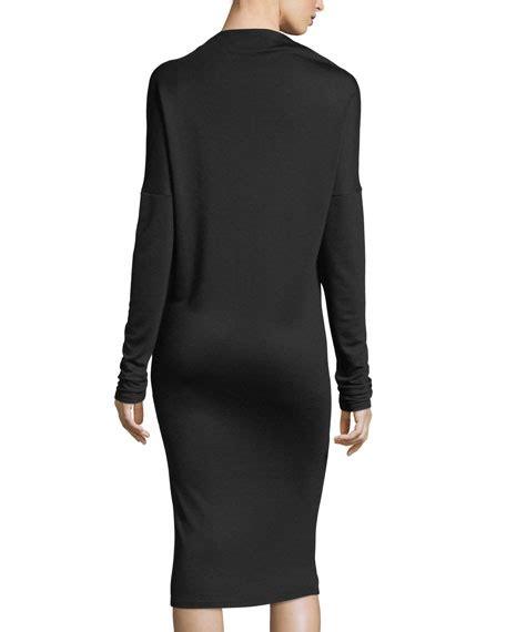 Mock Neck Sleeve Midi Dress theory mock neck sleeve drapey jersey midi dress