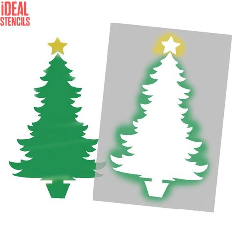 christmas tree 18 in stencil tree stencil festive decor crafts ideal stencils