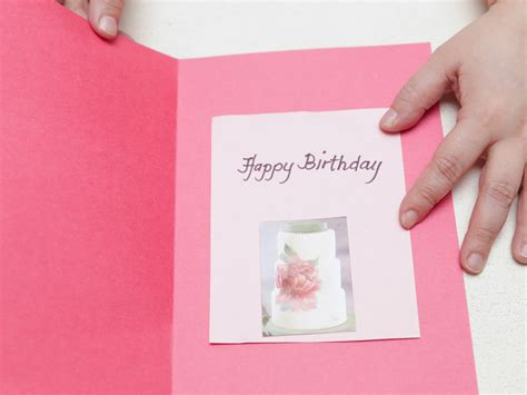 how to make a bday card 4 ways to make a simple birthday card at home wikihow