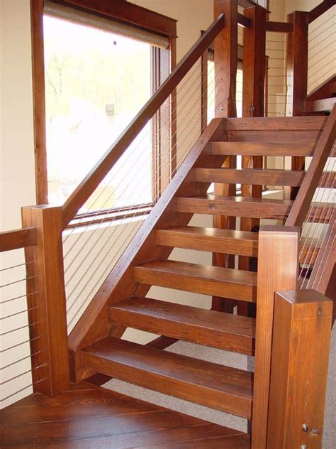 Cable Stair Railings Interior by