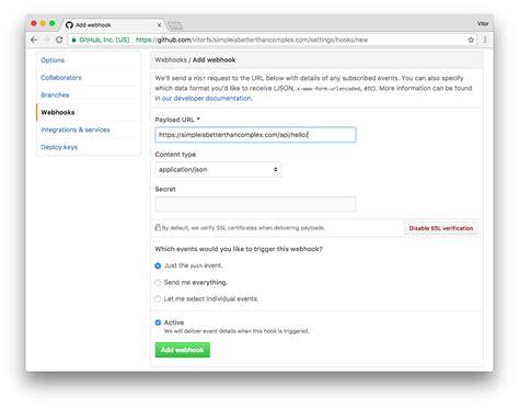 django tutorial csrf how to handle github webhooks using django