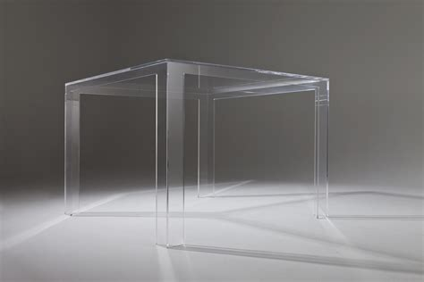 kartell tavoli trasparenti scopri tavolo invisible h 72 cm cristallo di kartell