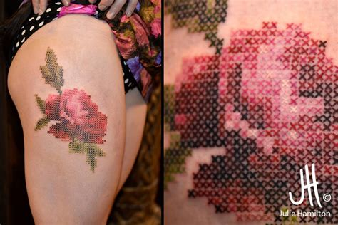 cross stitch tattoo cross stitch tattoos the vandallist