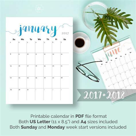 18 month calendar template 2017 monthly calendar template 18 free