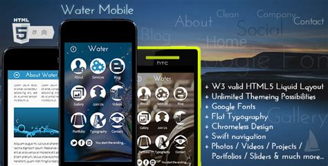 mobile themes html5 water mobile