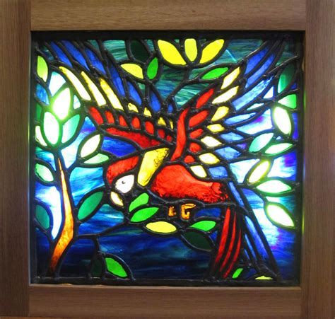 stained glass window light box d souza stained glass parrot light box