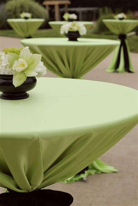 length tablecloths on high top cocktail tables