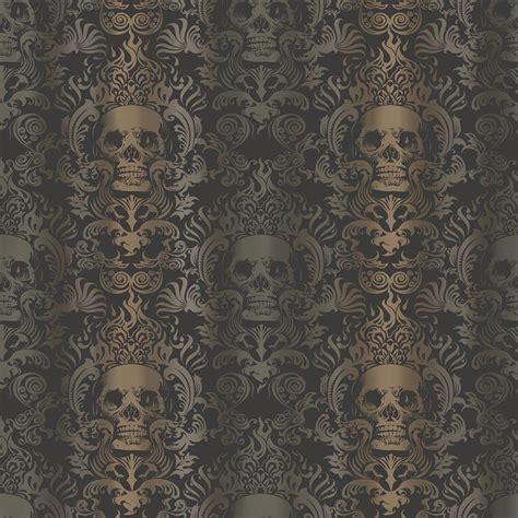 Home Designer Pro Help chesapeake luther sand skull modern damask wallpaper