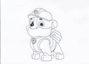 rubble paw patrol coloring page paw patrol rubble free coloring pages
