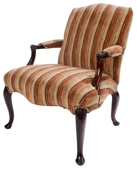 queen anne armchair queen anne lolling chair eclectic armchairs and accent