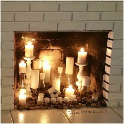 candles in fireplace 25 best ideas about candle fireplace on pinterest