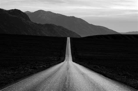 Landscape Journey Photography Black White Highway Journey Photography The Road
