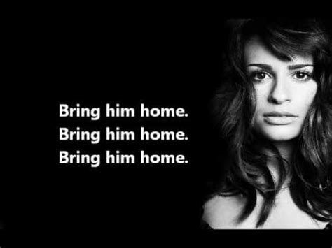 bring him home lyrics glee berry