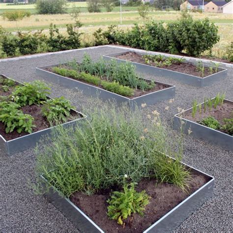 galvanized steel garden beds galvanized herb veg gardens pinterest