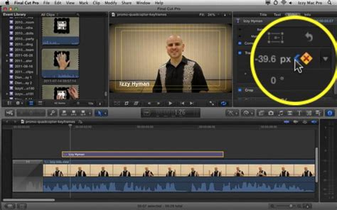 Final Cut Pro Animation | key frames and animation in final cut pro x izzy video