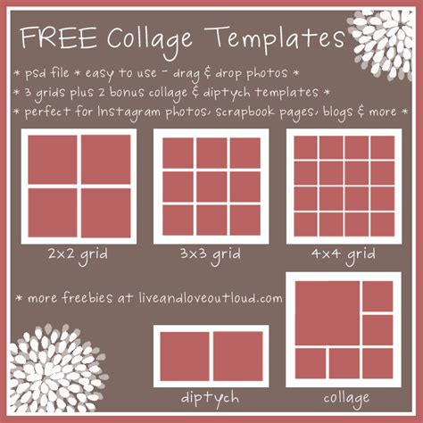 8 best images of printable collage templates free